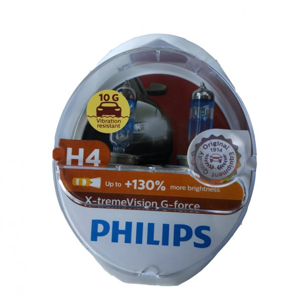 PHILIPS H4 12V 55W  X-TREME VISION G-FORCE +130% 12342XVGS2