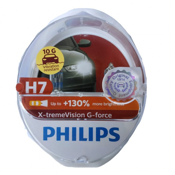 PHILIPS H7 12V 55W  X-TREME VISION G-FORCE +130% 12972XVGS2