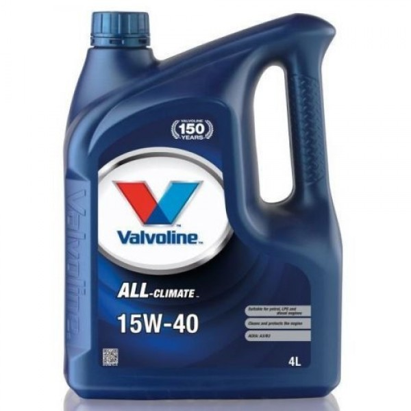 VALVOLINE ALL CLIMATE 15W-40 4L