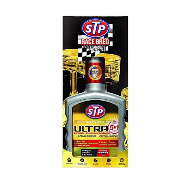 STP ULTRA 5 IN 1 PETROL SYSTEM CLEANER 400ml - 76400